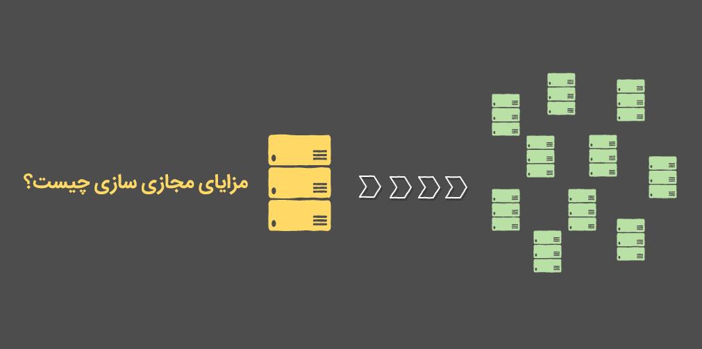 مزایای مجازی سازی سرور