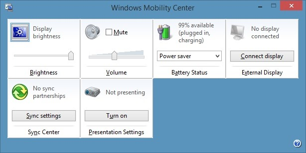 Windows-Mobility-Center