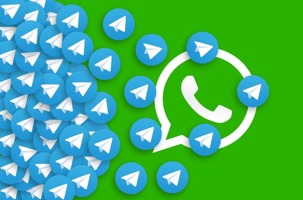 واتس اپ و تلگرام