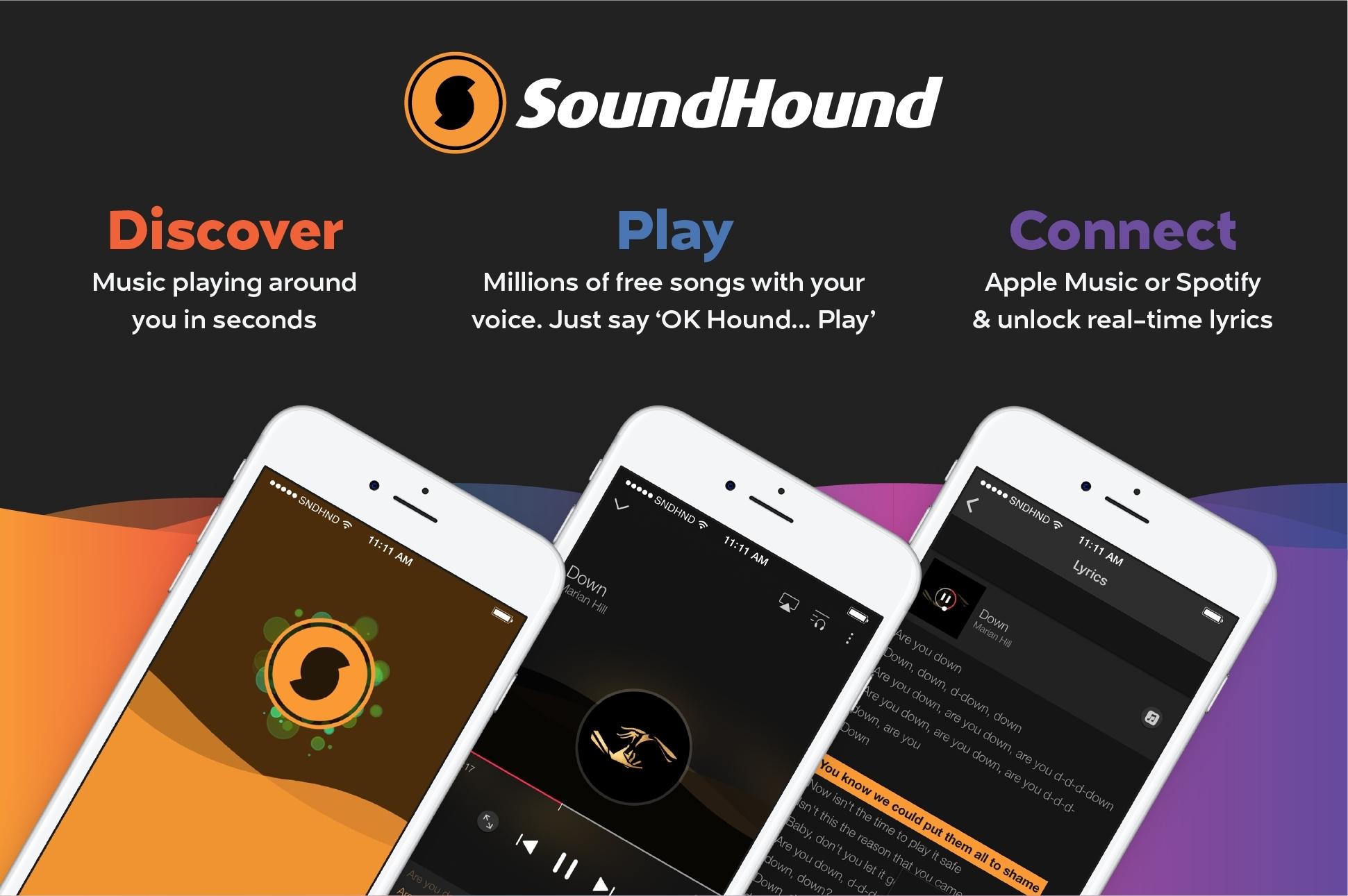 برنامه Sound Hound | پیدا کردن اهنگ بدون اسم خواننده